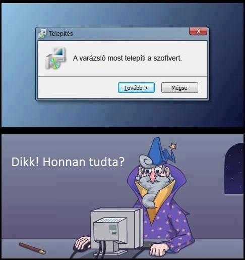 szoftver telepítés